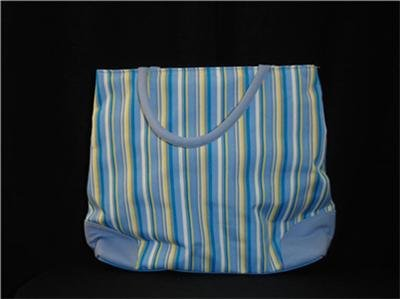 Striped Blue & Yellow Handbag NWOT