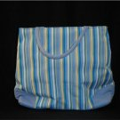Striped Blue & Yellow Handbag NWOT