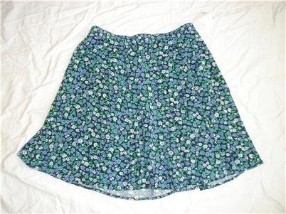 NWT Bentley Floral Flouncy Skirt Large 12 14 NEW