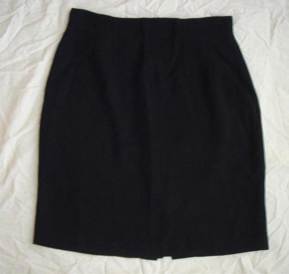 Chaus Black Career Skirt Lined Sz 12 Large Wool Blend
