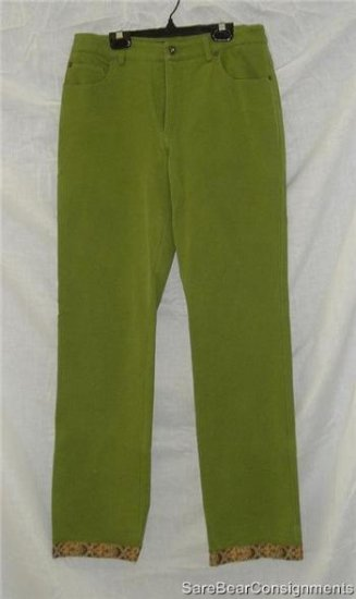 New Erie Green Embellished Jeans 8 Tall 8L Long Stretch
