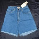 NWT Christina Blue Fray Denim Cut Off Shorts 9 10 $22