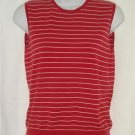 Womens Stretch Ralph Lauren Red striped Shirt Medium