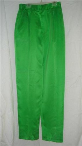 DANA BUCHMAN Lime Green Silk Dress Pants sz 10 Lined