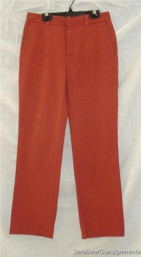 Banana Republic Rust Stretch Pants Sz 2R 2 Regular
