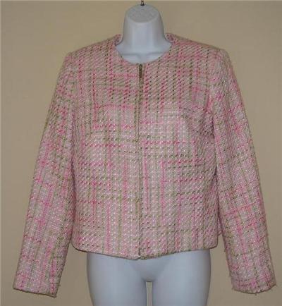 Elegant Spring Pink Jacket Blazer sz 6 Fully Lined
