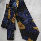 Vintage Halston Original Silk Floral Tie Blue Yellow