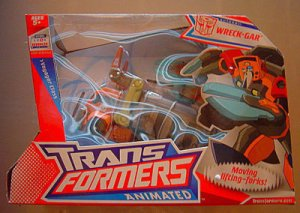 transformers animated wreck-gar mib rare