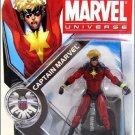 "Marvel Universe 3 3/4"" Series 3 # 001 captain Marvel Action Figure New"