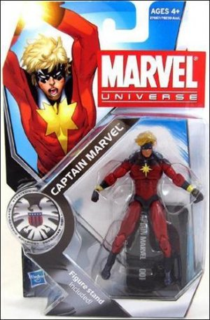 "Marvel Universe 3 3/4"" Series 3 # 001 captain Marvel Action Figure New"