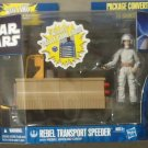 STAR WARS REBEL TRANSPORT SPEEDER w/ REBEL GROUND CREW  misb