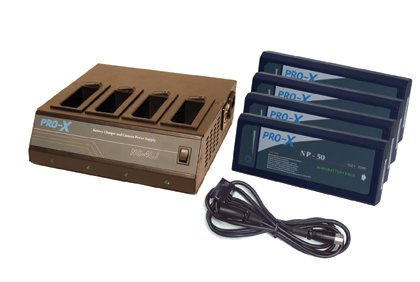 Switronix SX-NP3 - 1 NC-4LJ NP Charger, 4 NP-50 NiMH batteries