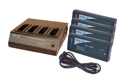 Switronix SX-NP4 - 1 NC-4LJ NP Charger, 4 NP-L60 NiMH batteries