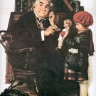 NORMAN ROCKWELL PRINT ~ DOCTOR AND DOLL # 11 NEAR MINT