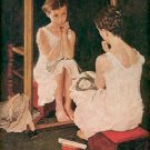 GIRL AT THE MIRROR ~ NORMAN ROCKWELL PRINT # 5 NEAR MINT