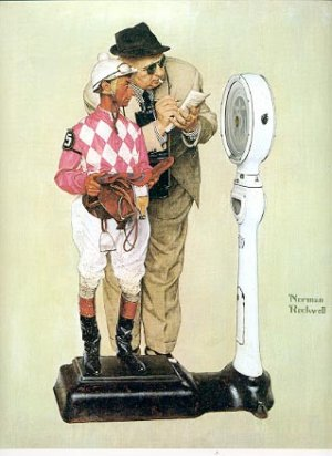 NORMAN ROCKWELL PRINT ~ WEIGHING IN # 16 NEAR MINT