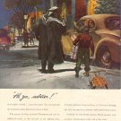 1944 PACIFIC COTTONS AND RAYONS   MAGAZINE AD WITH OLD CAR  (72)