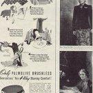 1944 PALMOLIVE BRUSHLESS CREAM CARTOON  MAGAZINE AD (73)