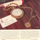 1944 HAMILTON WATCH COMPANY MAGAZINE AD  (99)