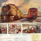 1949 PENNSYLVANIA RAILROAD STREAMLINERS THE TRAIL BLAZER & JEFFERSONIAN MAGAZINE AD  (122)