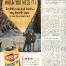 1949 RAY-O-VAC FLASHLIGHT BATTERY  MAGAZINE AD  (125)
