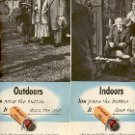 1949 KODAK FILM  INDOORS OR OUTDOORS DOUBLE PAGE MAGAZINE AD  (126)