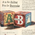 1949 BURROUGHS ADDING MACHINE CO  A is ADDING & B is FOR BURROUGHS MAGAZINE AD  (127)