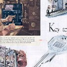 1949 GENERAL MOTORS KEY TO A BETTER TOMORROW DOUBLE PAGE MAGAZINE AD (109)