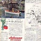 1952 JOHNSON SEA HORSES OUTBOARD MOTORS MAGAZINE AD (146)