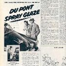 1952 DU PONT SPRAY GLAZE OUTSHINES THE BEST WAX JOB  MAGAZINE AD (159)