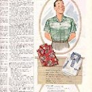 1952 MAKE PAPPY HAPPY  TRUVAL SPORT SHIRTS  MAGAZINE AD  (161)