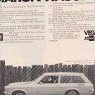 1971 CHEVY VEGA STATION WAGON  MAGAZINE CAR AD  (28)