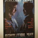 DEMOLITION MAN with SYLVESTER STALLONE & WESLEY SNIPES 1993 ONE SHEET MOVIE POSTER # 35 VGOOD COND