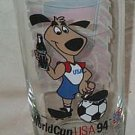 COCA COLA COKE GLASS GERMAN  1994 WORLD CUP WITH FRANCE MINT
