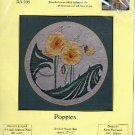 ART STITCH KIT  POPPIES COMPLETE CROSS STITCH CRAFT KIT DESIGNED by KAREN BOURGAIZE NEW