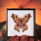 AUTUMN BUTTERFLY CROSS STITCH LEAFLET by ANNE BRINKLEY 1982 CRAFT BOOK MINT
