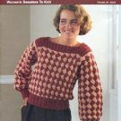 BUCILLA SIX OF ONE  WOMEN'S SWEATERS TO KNIT & SIX AFGHANS TO KNIT OR CROCHET BOOKLET CRAFT BOOK