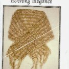 CAROLINA COUNTRY HOUSE EVENING ELEGANCE HAND KNIT SHAWL DESIGNED by PEG EDWARDS CRAFT BOOK NEW