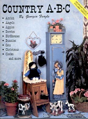 COUNTRY A B C RUB OUT PAINTING VOLUME 20 by GEORGIA FEAZLE CRAFT BOOK NEAR MINT