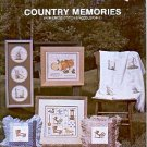 COUNTRY MEMORIES FOR CROSS STITCH & NEEDLEPOINT BOOKLET by LINDA MYERS 1981 CRAFT BOOK