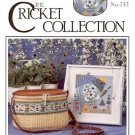 SUMMER THYME CROSS STITCH DESIGNED by VICKI HASTINGS LEAFLET THE CRICKET COLLECTION CRAFT BOOK