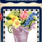 FLOWER PAIL DMC NEEDLEPOINT CANVAS COLLECTION CRAFT BOOK  NEW