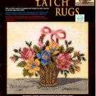 GRAPH N' LATCH RUGS  FLORAL BASKET  #37546  MCG TEXTILES CRAFT BOOK NEW