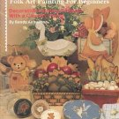 JUST PLAIN COUNTRY FOLK  ART PAINTING FOR BEGINNERS BOOKLET by SANDY AUBUCHON CRAFT BOOK MINT