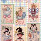 LITTLE BITS by ALMA LYNNE GLORIA & PAT CROSS STITCH BOOKLET CRAFT BOOK NEW