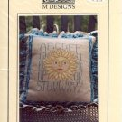 SUN SAMPLER PILLOW CROSS STITCH LEAFLET by M DESIGNS CRAFT BOOK  NEW
