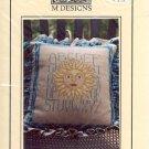 SUN SAMPLER PILLOW CROSS STITCH LEAFLET by M DESIGNS CRAFT BOOK  NEW