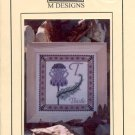 THISTLE CROSS STITCH LEAFLET by M DESIGNS CRAFT BOOK  NEW