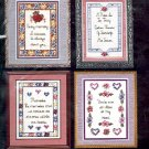 MEMORIES by SANDI PHIPPS CRAFT KIT FOR 4 EA CROSS STITCH PICTURES CRAFT BOOK  NEW