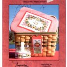 PICNIC BASKET - LID & TAG CROSS STITCH LEAFLET DESIGNED by DIANE ARTHURS CRAFT BOOK  NEW